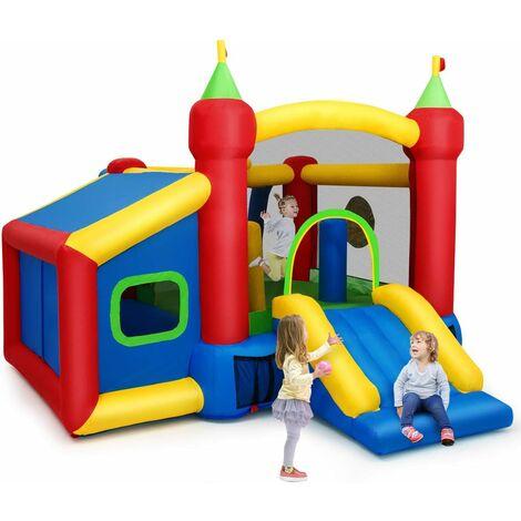 Castillo Hinchable para Niños 380 x 305 x 215 cm Infantil Castillo Inflable con Tobogán Sin Soplador