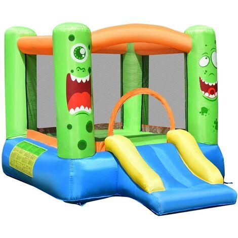 Castillo Hinchable para Niños con Tobogán 270 x 230 x 173 centímetros Castillo Inflable de Juego con Bolsa de Transporte y Kit de Reparación Sin Soplador
