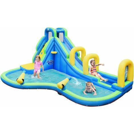 Castillo Hinchable para Niños con Tobogán Acuático 478x 366x242centímetros Infantil Castillo Inflable Sin Soplador