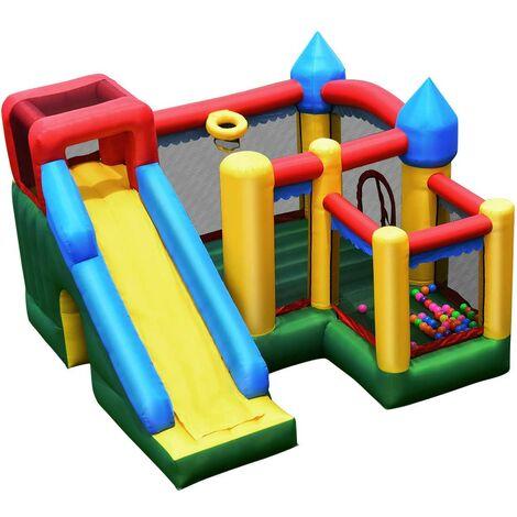 Castillo Hinchable Tobogán para Niños Parque Infantil Centro de Actividades para niños Inflable