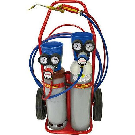 Castoflam SI, kit complet oxygene/acetylene avec detendeur Typhoon