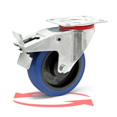 Castor Wheel with Mounting Bracket, Brake, Wheel ? of 160 mm and Carrying Capacity of 300kg