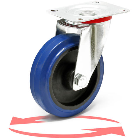 Castor Wheel with Mounting Bracket, Wheel ⌀ of 125 mm and Carrying Capacity of 200kg