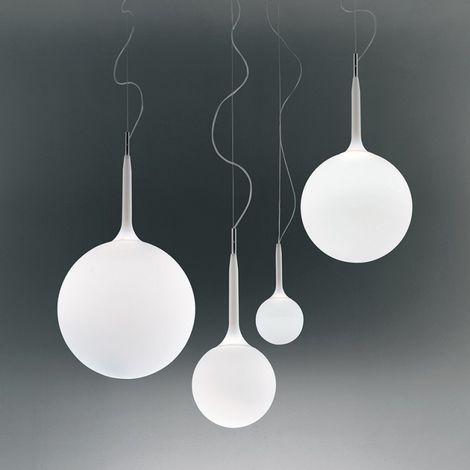 Castore 42 lampada a sospensione diffusore in vetro soffiato 150w e27 -  Artemide Catalogo Lampade