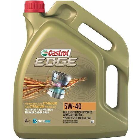 CASTROL Huile moteur Edge 5W-40 - 5 L - Avec Titanium FST
