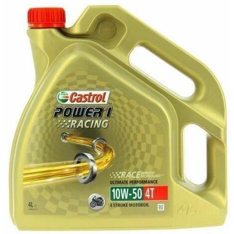 CASTROL Huile moteur synthétique Power 1 Racing 4T 10W-50 - 4 L