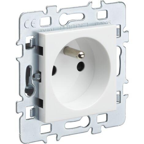 Casual - mécanisme 2P+T + cache blanc + support métal - Debflex