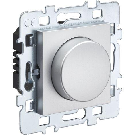 DEBFLEX Casual Variateur Rotatif 2 Fils M/éca Support m/étal Cache Blanc
