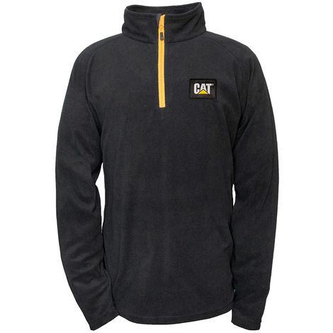 CAT 1310031 Men's Concord Fleece Pullover - Black Size XXL
