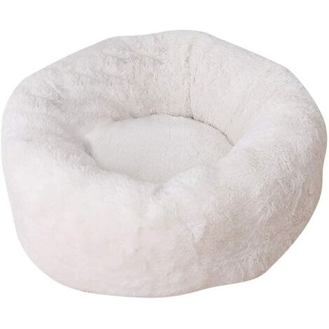 """main image of """"Cat Basket Bed for Kitten Soft Soft Cushion Basket Bed for Cat and Small Dog XH029 (M, White)"""""""