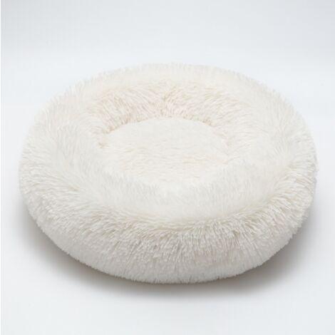 Cat Bed Dog Bed Round Nest for Pet Bed For Oval Cat Belacket Nid White Bed Diameter 50cm