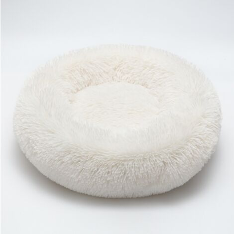 Cat Bed Dog Bed Round Nest for Pet for Cat Oval Cat Donut Nid White Bed Diameter 70 cm