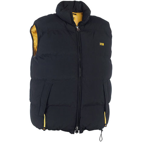 CAT C430 Body Warmer Men's Quilted Insulated Vest - Black Size XL