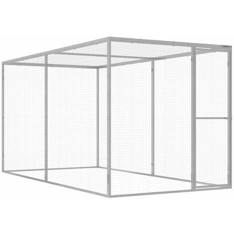 Cat Cage 3x1.5x1.5 m Galvanised Steel