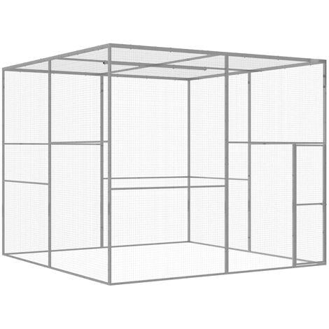Cat Cage 3x3x2.5 m Galvanised Steel
