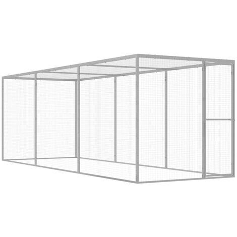 Cat Cage 4.5x1.5x1.5 m Galvanised Steel