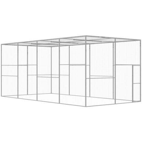 Cat Cage 6x3x2.5 m Galvanised Steel