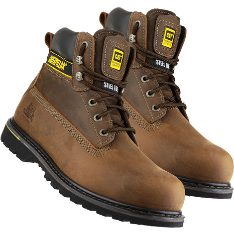 Cat Caterpillar Holton Safety Boot Brown Size 8