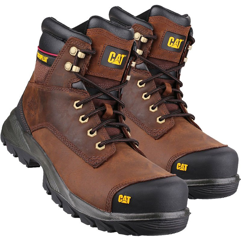 Image of Cat Caterpillar New Spiro S3 Waterproof Safety Boot Brown Size 12