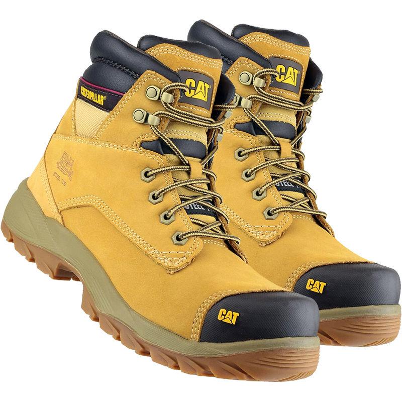 Image of Cat Caterpillar New Spiro S3 Waterproof Safety Boot Honey Size 7