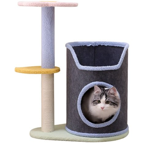 """main image of """"Cat climbing frame, cat litter, multi-layer tree hole felt cloth cat house, does not occupy an area"""""""