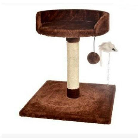 """main image of """"Cat Climbing Frame, Cat Tree Cat Tower with Natural Sisal Scratching Post for Kitten, Small Cats Activity Platform Playground Supply (Color: Gray)"""""""