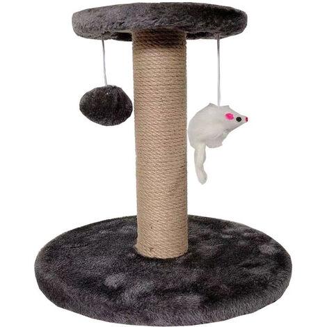 "main image of ""Cat Climbing Frame Small Cat Jumping Platform Cat Litter Woven Toy Linen Sisal Rope Cat Cat Scratch Column, White"""