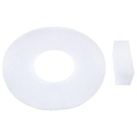 Cat Fuente de agua flotante filtro de esponja de repuesto para els mascotas Fuente de agua, flotante algodon filtro 1set-2pcs