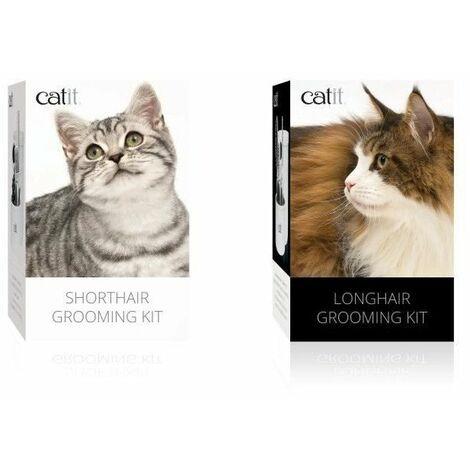CAT IT Trousse de toilettage a poil long - Blanc - Pour chat