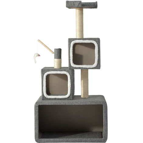 Cat kitten scratching post post tower box structure cat activity centers