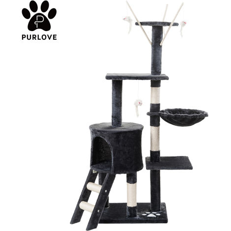 Cat Kitten Tree Cat Play Tower House Cat Scratcher Activity Centres Scratching Post with Ladders Condo