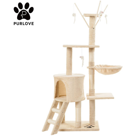 Cat Kitten Tree Cat Play Tower House Cat Scratcher Activity Centres Scratching Post with Ladders Condo B2B02254
