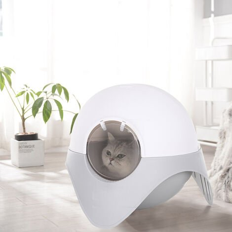 """main image of """"Cat Litter Box Toilet Home Cabinet Pet Self Cleaning Kitty House"""""""
