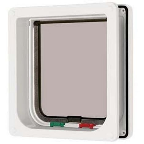 Cat Mate 4 Way Locking Cat Flap And Door Liner (One Size) (White)