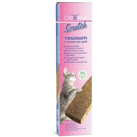 Cat nail scratching post in cardboard