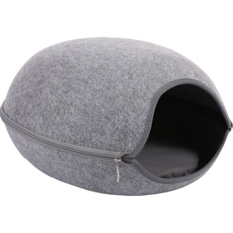 Cat Pet Cave Cat Cave Bed Cat Bed for Cats Kittens Pets CLY016 Grey