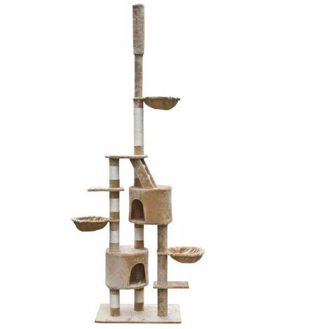 Cat Play Tree Cuddles XL 230 - 260 cm Beige Plush VDTD06886