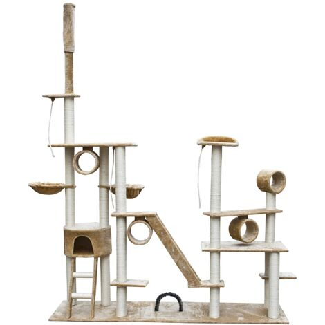 Cat Play Tree Deluxe 230-260 cm Beige Plush