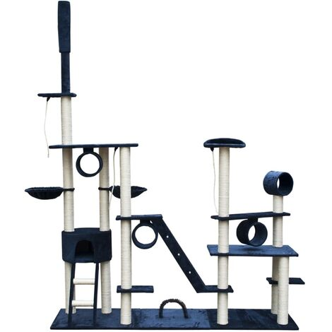 Cat Play Tree Deluxe 230 - 260 cm Dark Blue Plush