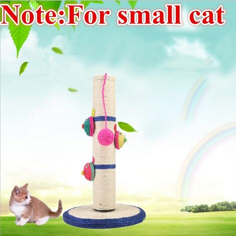 Cat Scratch Post Pet Scratcher Sisal Scratching Tree Rope Ball chew toy Mohoo