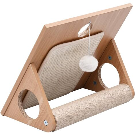 Cat Scratcher Triangle with Sisal Scratching Mats 40 cm - Brown