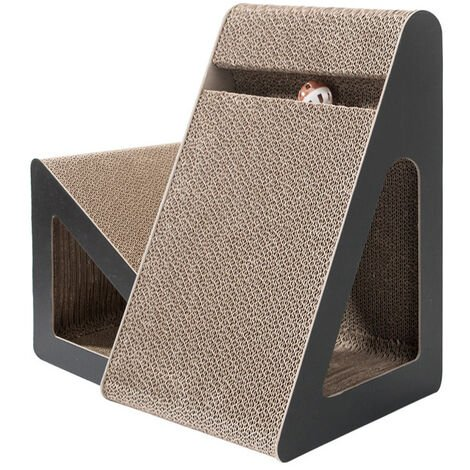 """main image of """"Cat Scratching board with tunnel hole and toy ball Scratcher"""""""