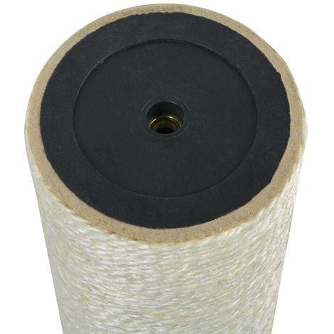 Cat Scratching Post 8x60 cm 8 mm Beige