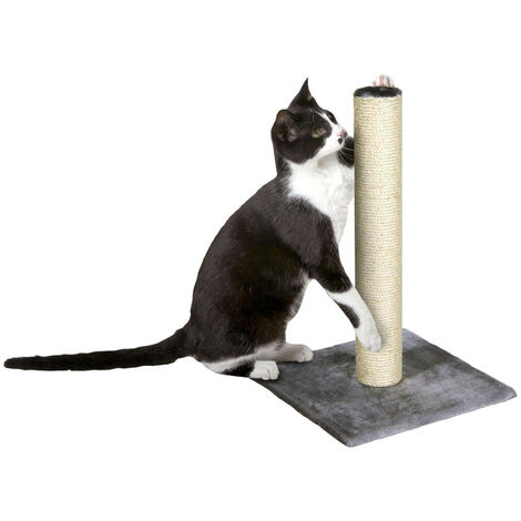 cat scratching post polset wide grey 38 x 38 x 59H