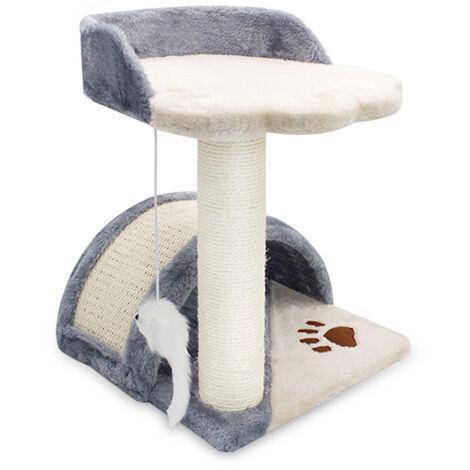 Cat Scratching Post Tree Climbing Kitten Scratcher Activity Centre Tower Grey