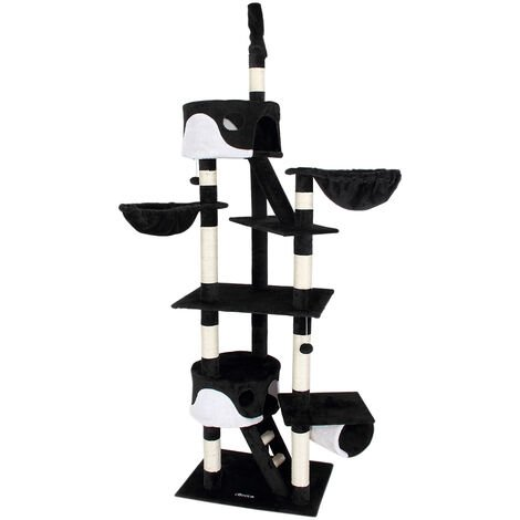Cat Scratching Tree Ceiling High Activity Centre Post Sisal Kitten Scratcher New
