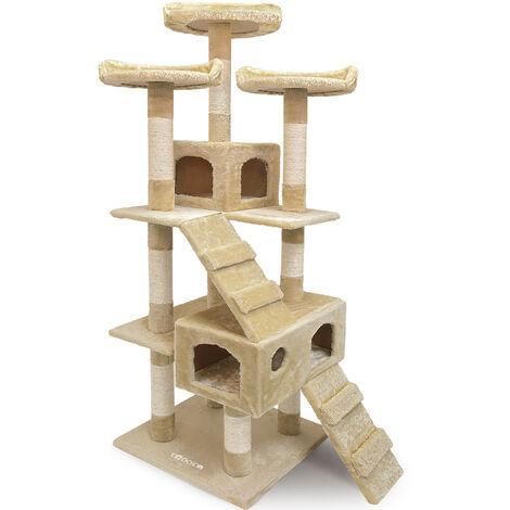 Cat Scratching Tree Post 175cm Activity Centre 6FT Toy Scratcher Kitten Climbing