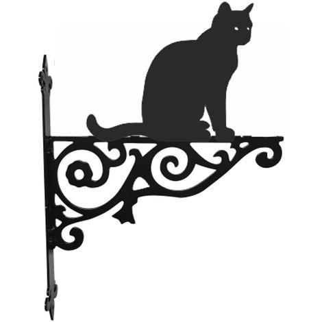 Cat Sitting Ornamental Hanging Bracket