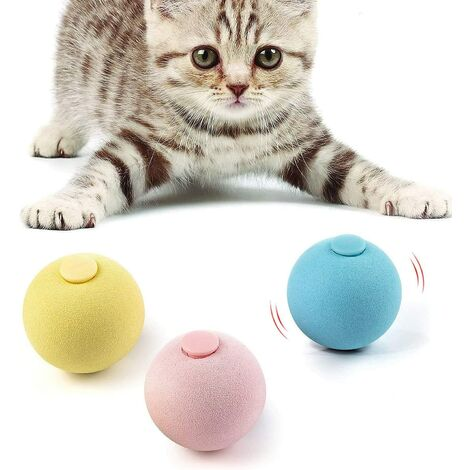 Cat Toy Ball, 3PACK, Including Frog, Cricket, Bird Three Kinds of Calls for Cat Toy Ball, Cat Toys for Indoor