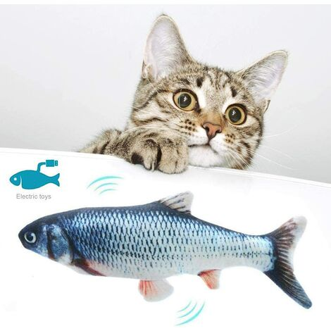 Cat Toy Simulation Fish Fish Electronic Couthern Toy Swing Fish Cat Toy USB Rechargeable Stirring Fish Cat Toy Crucian